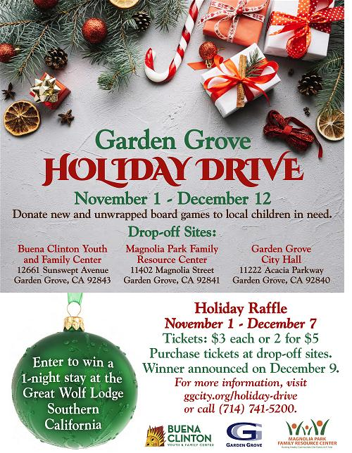 2019 Holiday Drive Flyer