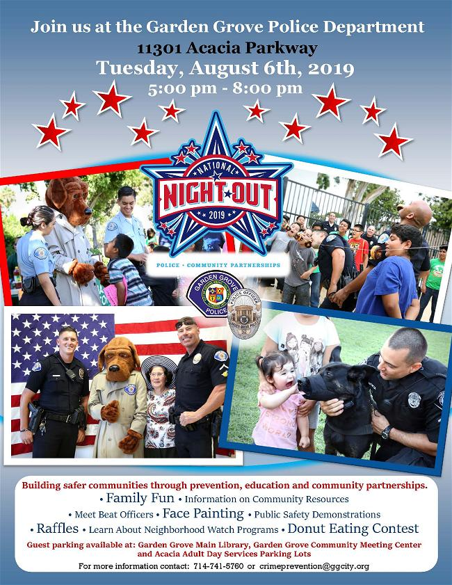 Canh Sat Garden Grove to chuc dem National Night Out