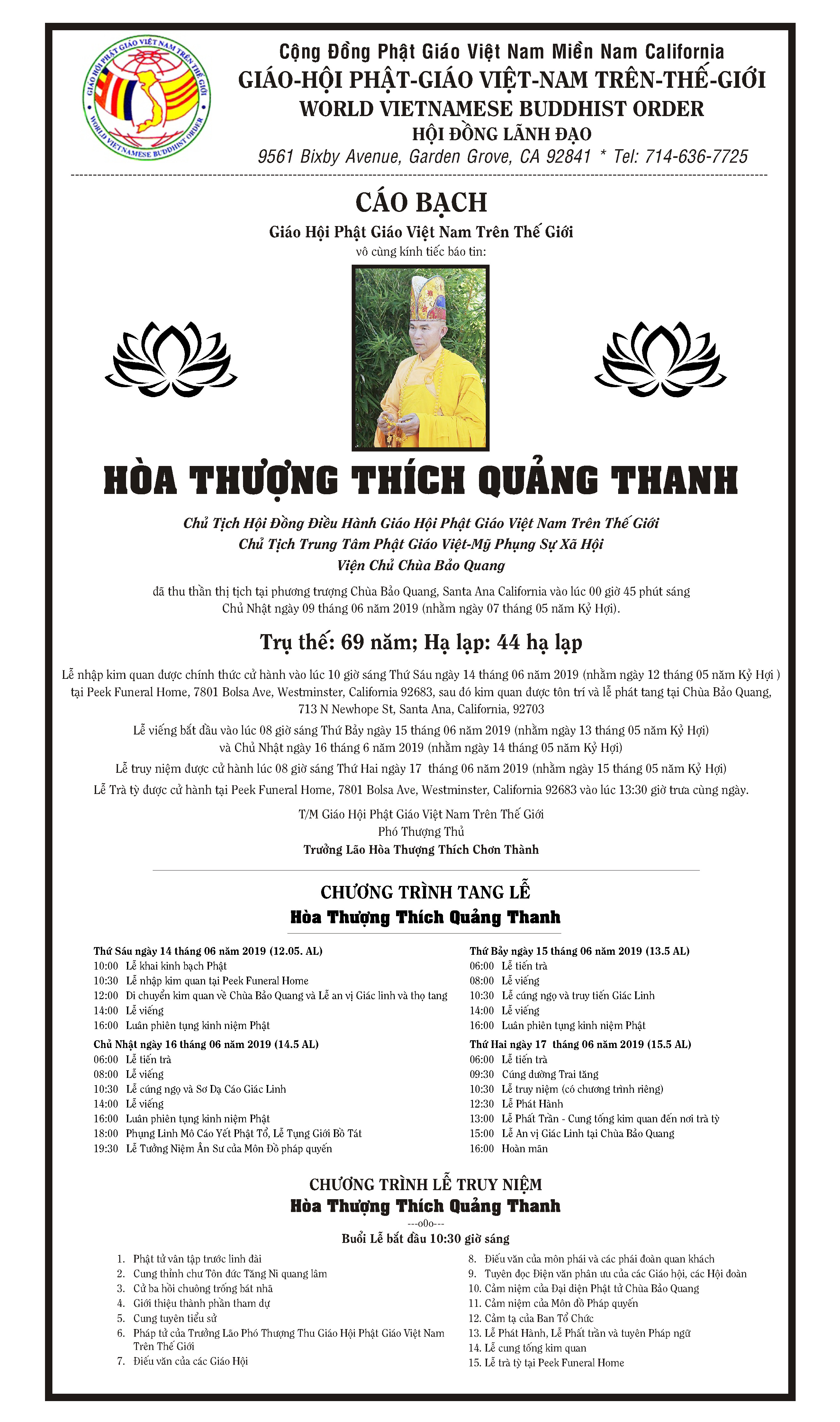 Cao Bach HT Thich Quang Thanh 1p
