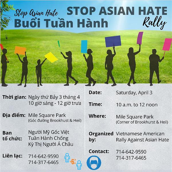 Stop Asian Hate Rally flyer