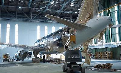 a-airplane-in-hangar-