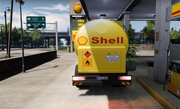 a_Shell oil company truck station