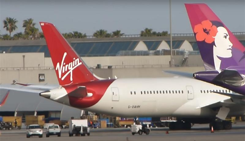 a_Virgin atlantic airlines airplane airport