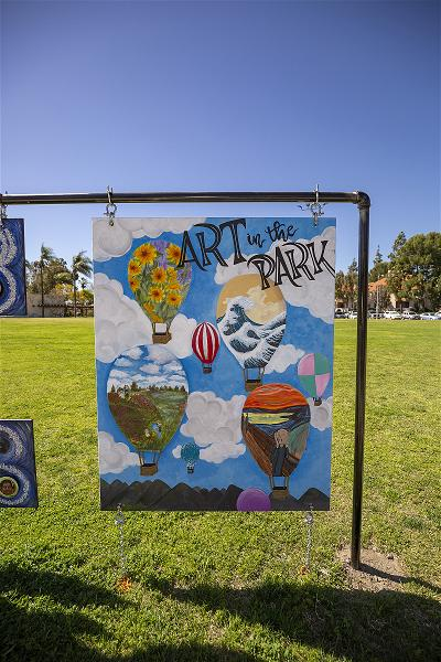 Art in the Park - wooden painted panel