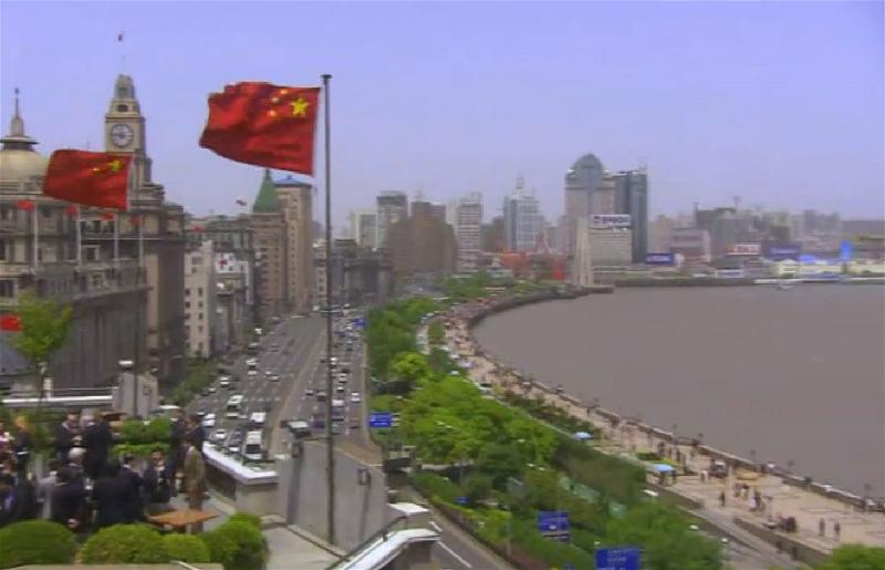 a-china-shanghai-flag-river